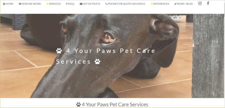 4 Your Paws Pet Care Services